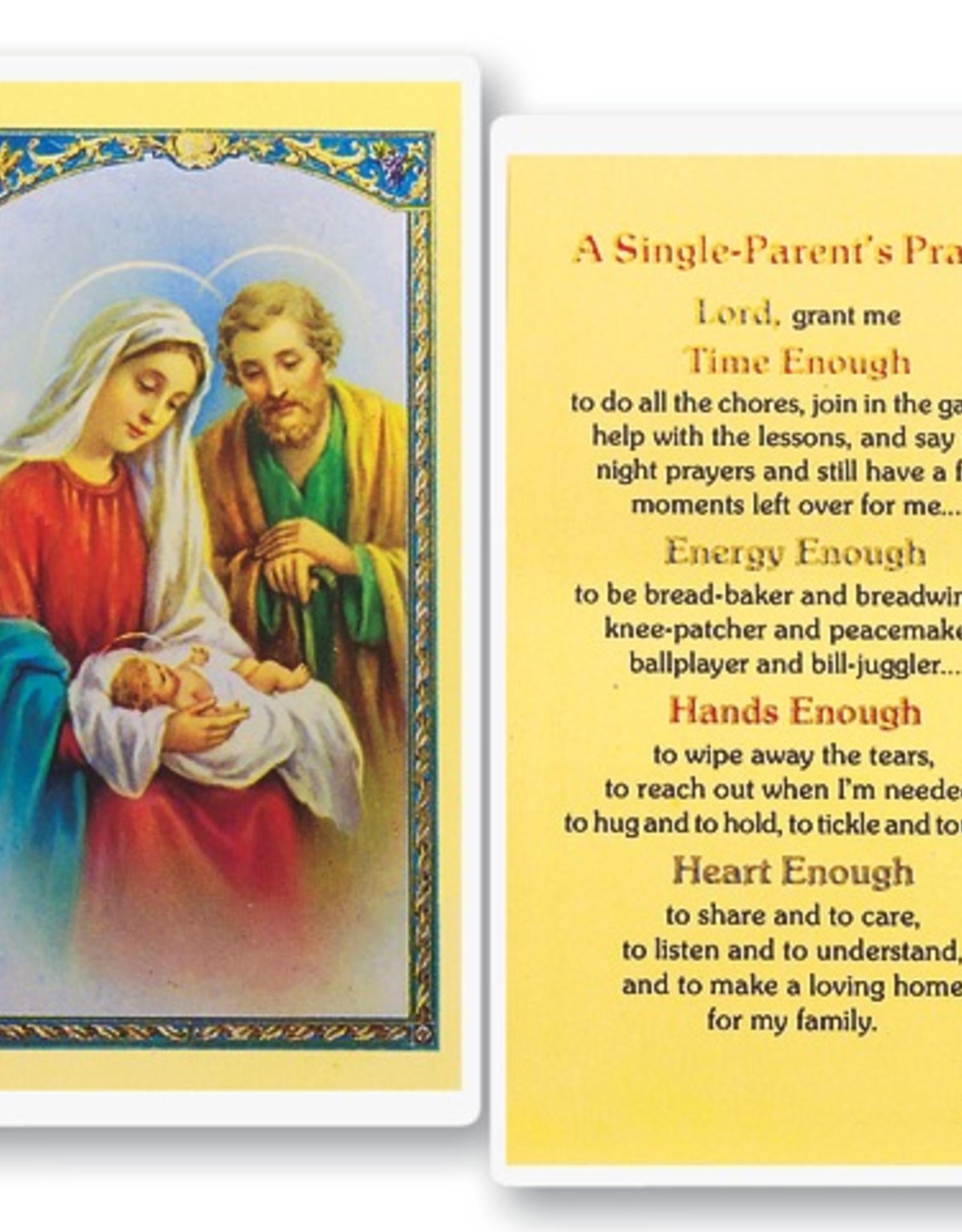 WJ Hirten A Single Parent's Prayer Holy Cards (25/pk)