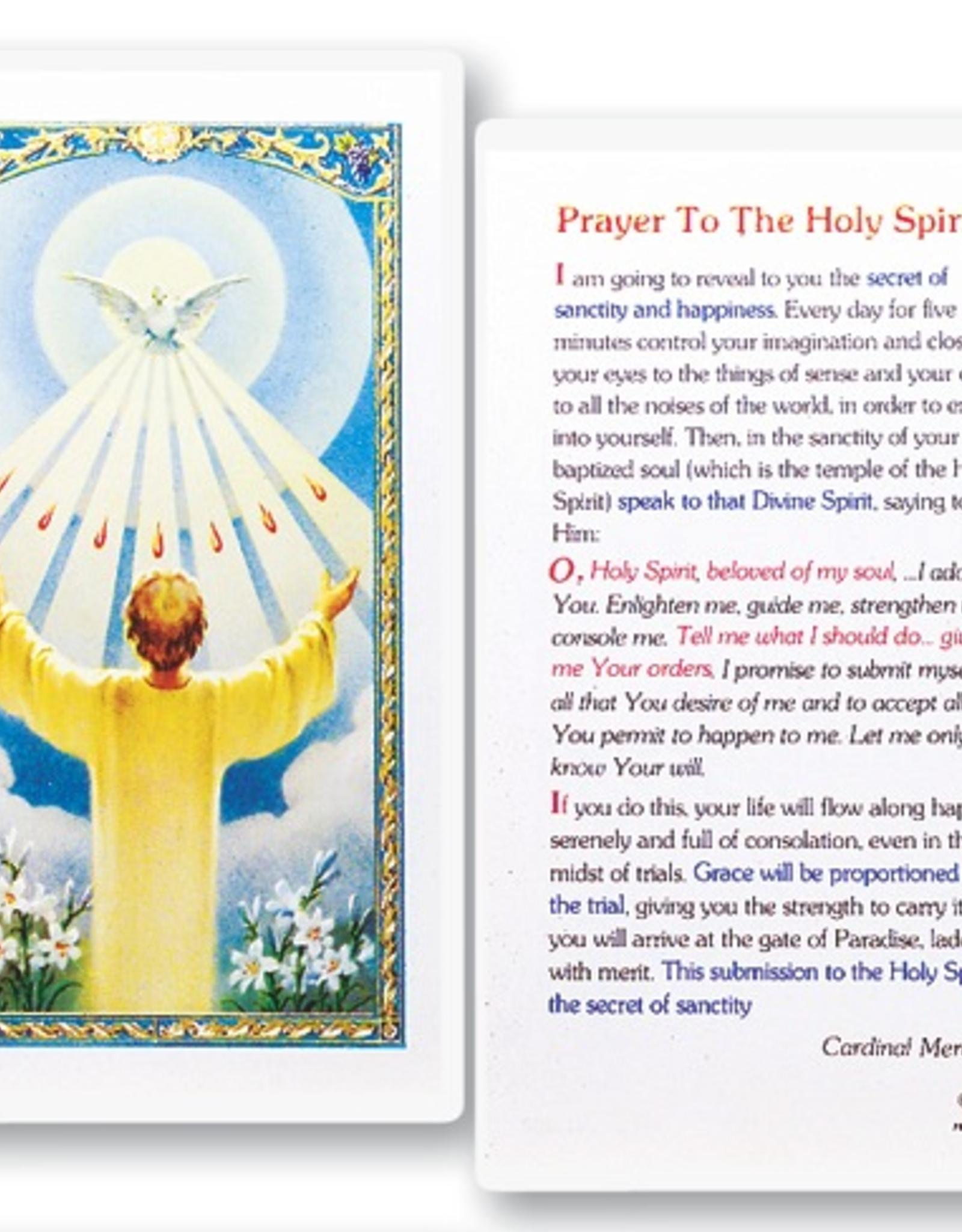 WJ Hirten Spiritual Communion - Prayer to the Holy Spirit Holy Cards (25/pk)
