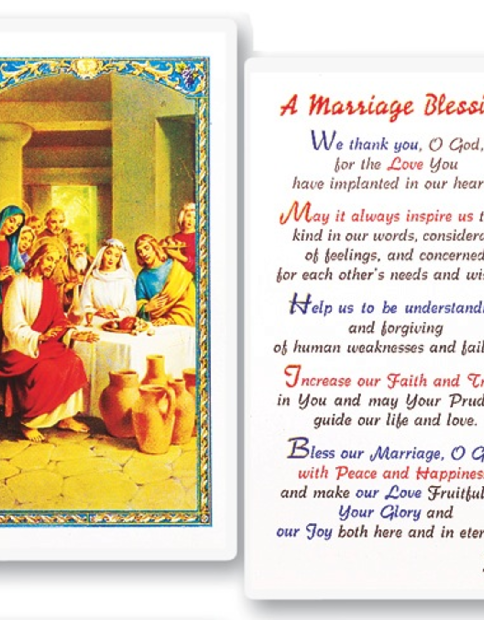 WJ Hirten A Marriage Blessing Holy Cards (25/pk)