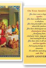 WJ Hirten On Your Anniversary Holy Cards (25/pk)