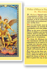 WJ Hirten Police Officer's Prayer to St. Michael Holy Cards (25/pk)