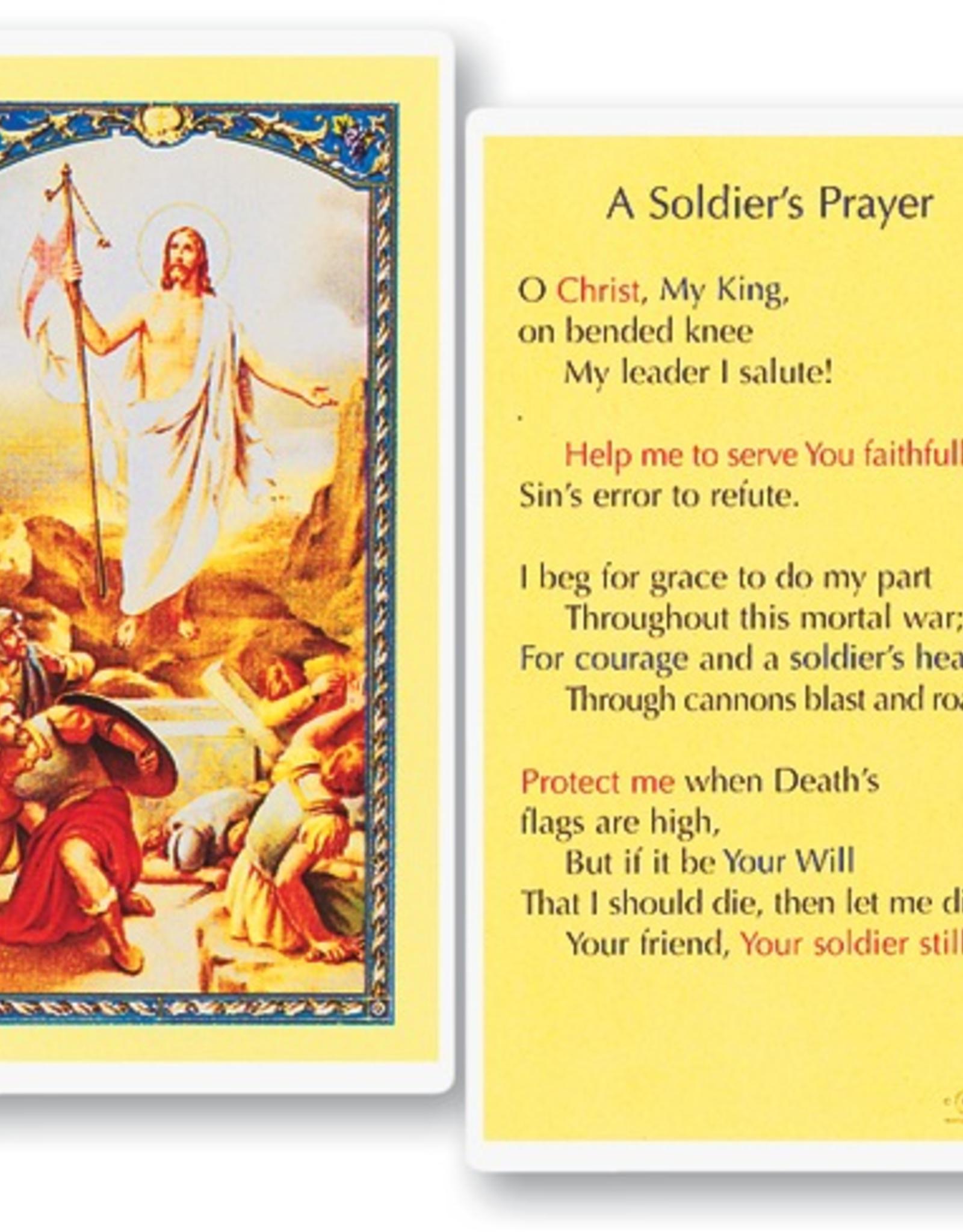 WJ Hirten A Soldier's Prayer Holy Cards (25/pk)