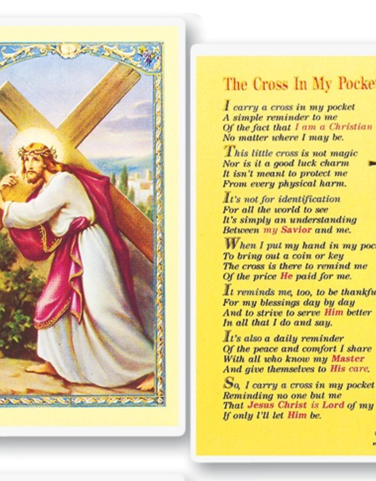 WJ Hirten Cross in My Pocket Holy Cards (25/pk)