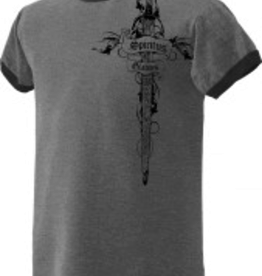 Nelson/Catholic to the Max Spiritus Gladius Ringer T-Shirt