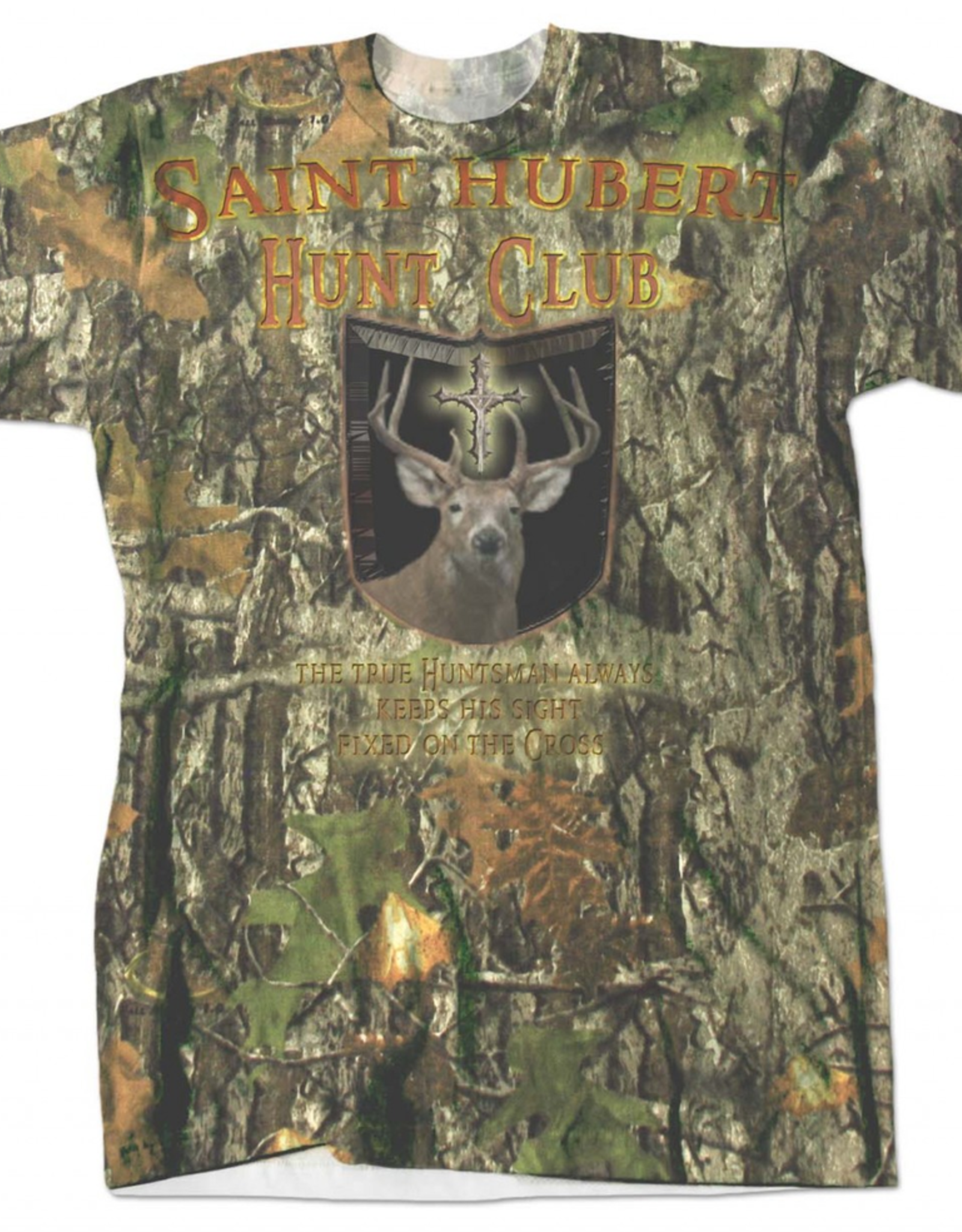 Nelson/Catholic to the Max St. Hubert Hunt Club Full Color T-Shirt