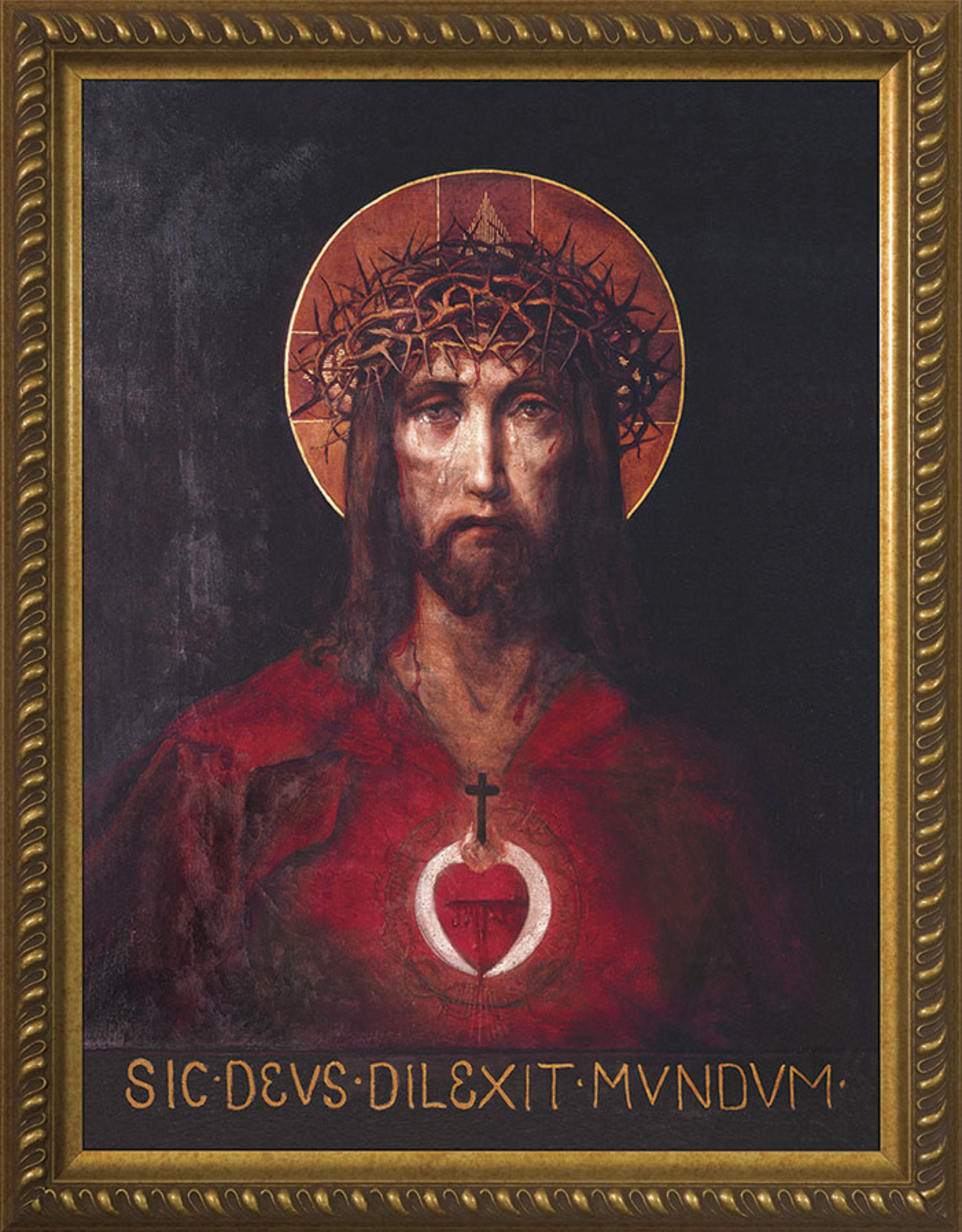 "Nelson/Catholic to the Max For God So Loved the World Framed Image 12 x 16"" Standard Gold Frame"