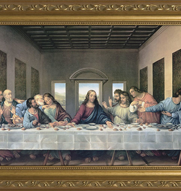 Nelson/Catholic to the Max The Last Supper by Da Vinci Restored Framed Image Standard in Gold Frame 8 x 16""