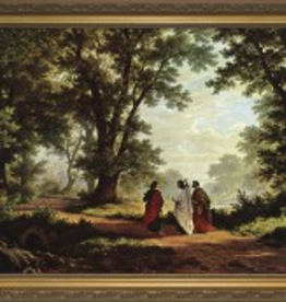 """Nelson/Catholic to the Max Road to Emmaus Framed Image in Standard Gold Frame 8 x 10"""""""