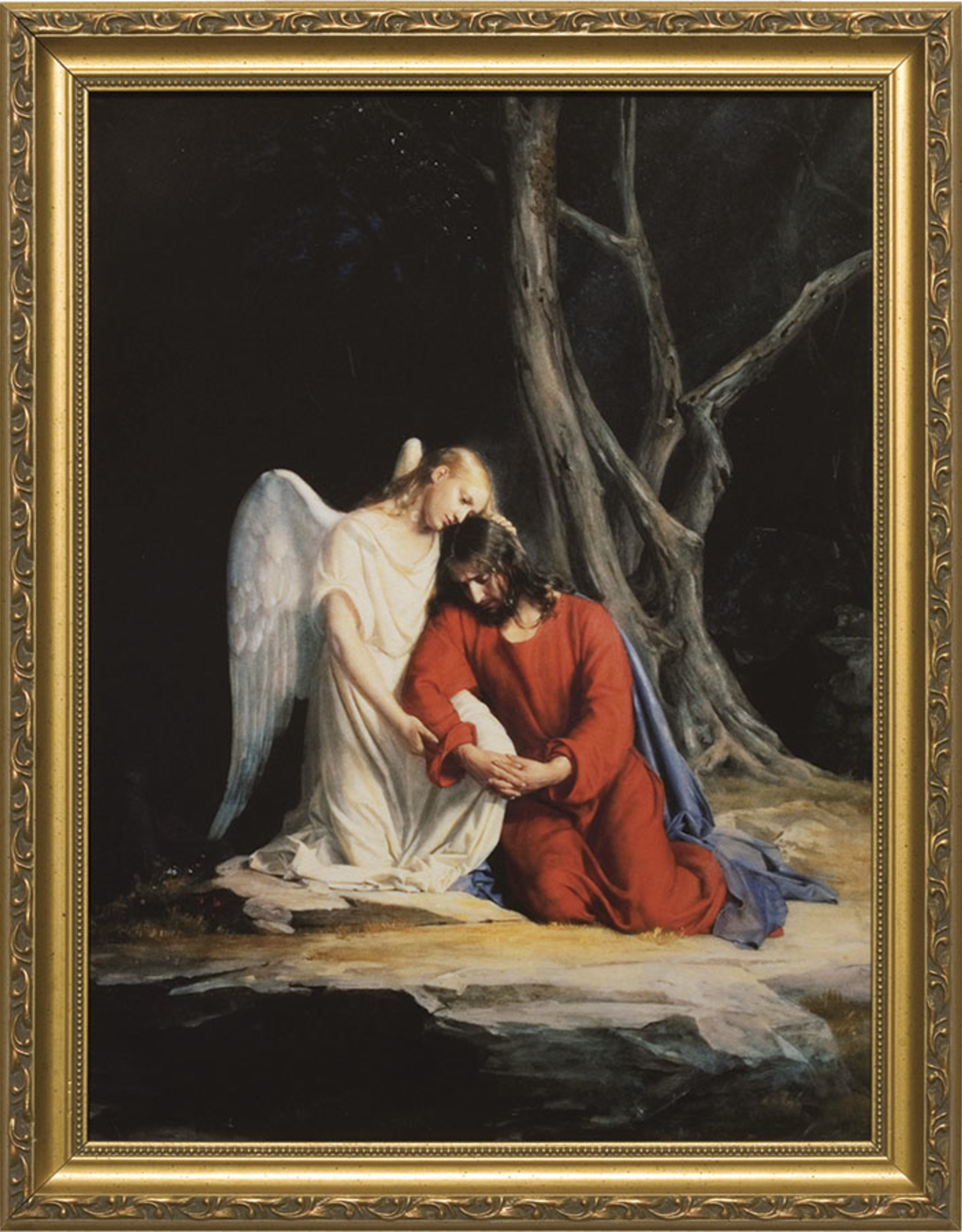 """Nelson/Catholic to the Max Gethsemane Framed Image in  Gold Frame 8 x 10"""""""