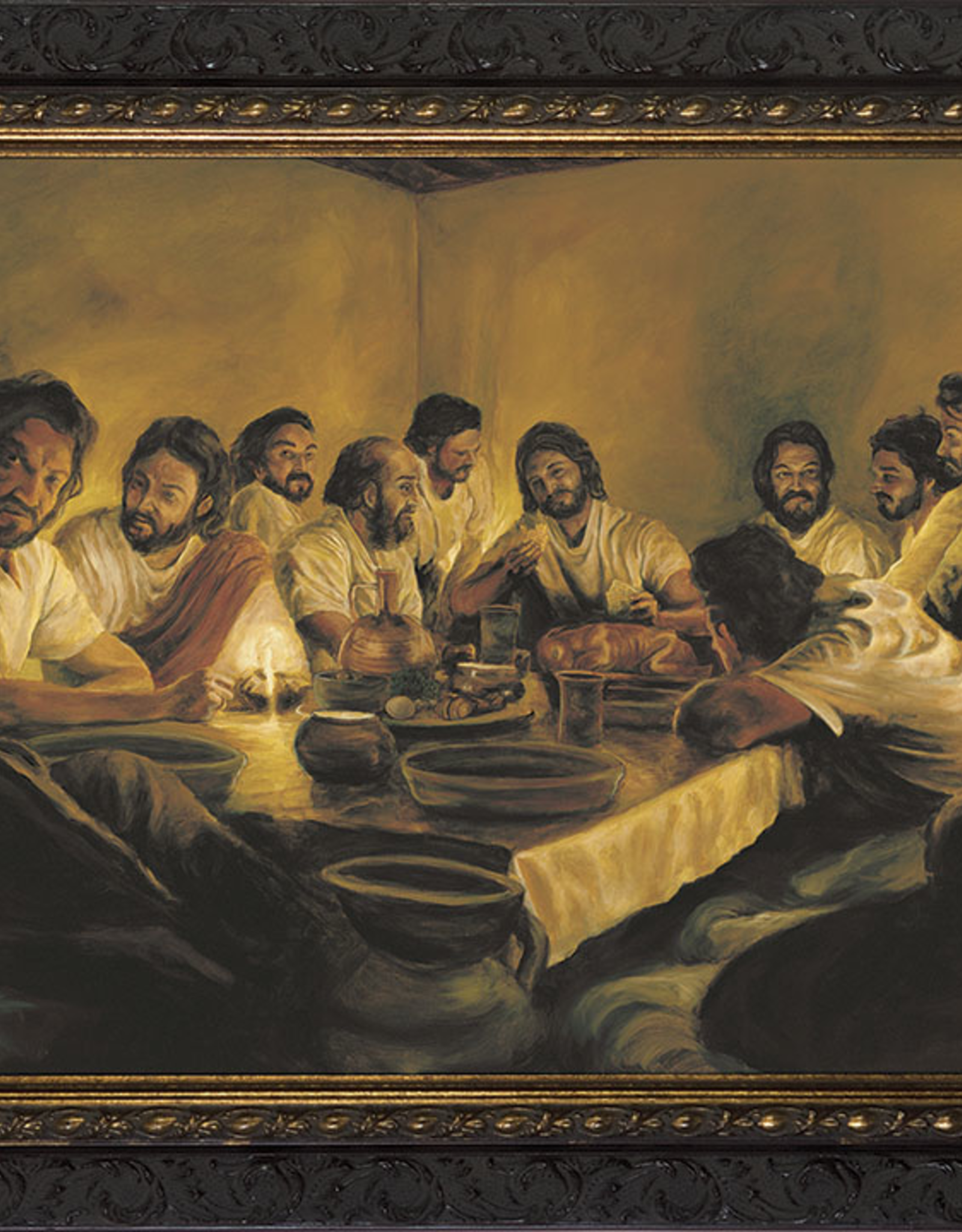 Nelson/Catholic to the Max The Last Supper by Jason Jenicke Framed Image in Ornate Dark Frame 12 x 9‰Û