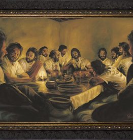 Nelson/Catholic to the Max The Last Supper by Jason Jenicke Framed Image in Ornate Dark Frame 12 x 9Ì¢‰âÂå