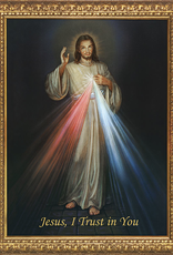 Nelson/Catholic to the Max Divine Mercy Framed Image in  Standard Gold Frame 5 x 7""