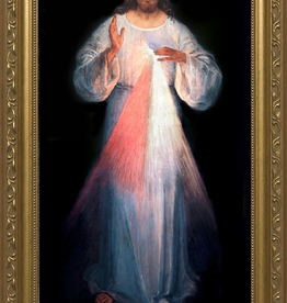 "Nelson/Catholic to the Max Divine Mercy Original Vilnius Framed Image Standard Gold Frame (8 x16"")"