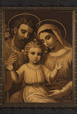 Nelson/Catholic to the Max Holy Family (Antique)Framed Image in Ornate Dark Frame 8 x 10""