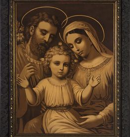 "Nelson/Catholic to the Max Holy Family (Antique)Framed Image in Ornate Dark Frame 8 x 10"""