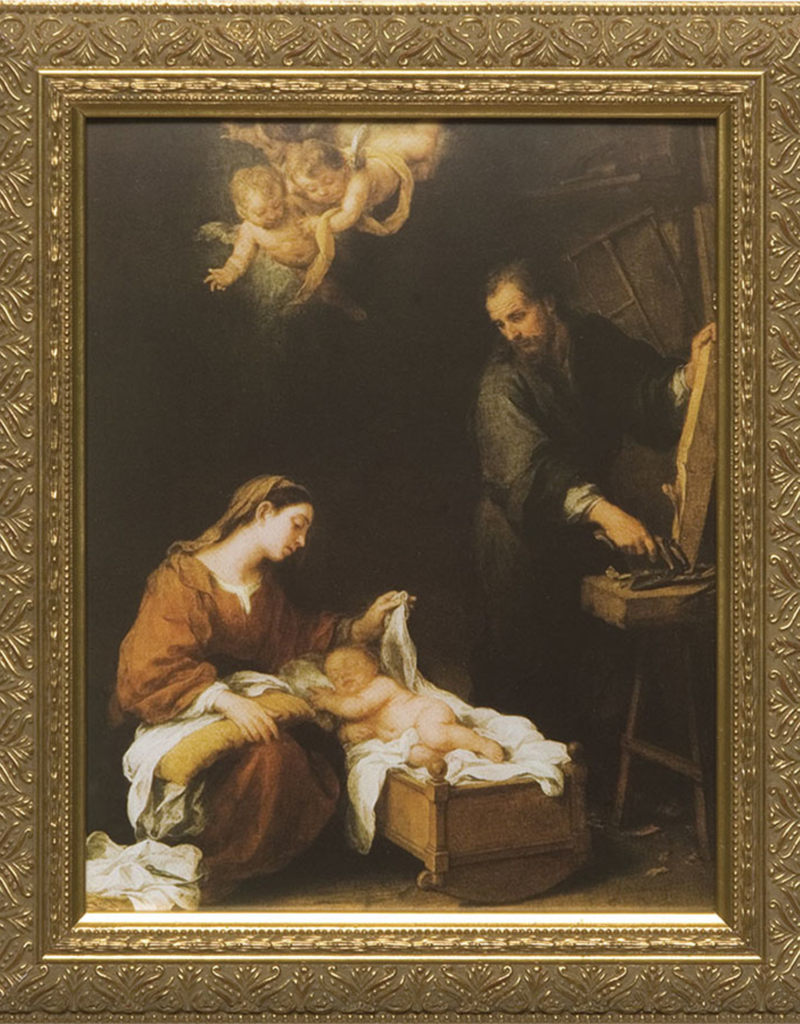 """Nelson/Catholic to the Max Holy Family by Murillo Framed Image in Gold Frame 8 x 10"""""""