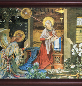 """Nelson/Catholic to the Max Annunciation of St. Gabriel Framed Image in Cherry Frame 6 x 10"""""""