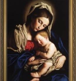 Nelson/Catholic to the Max Madonna and her Child Framed Image in Standard Gold Frame 9 x 12""