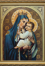 """Nelson/Catholic to the Max Our Lady of Mt. Carmel Framed Image Standard Gold Frame 8x 10"""""""