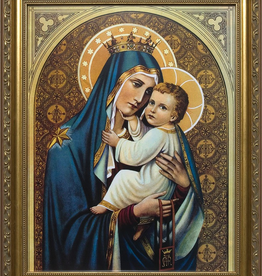 Nelson/Catholic to the Max Our Lady of Mt. Carmel Framed Image Standard Gold Frame 8x 10""
