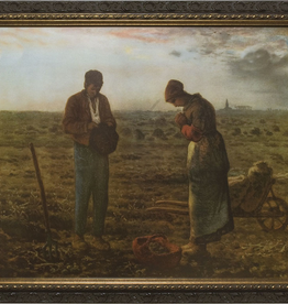 """Nelson/Catholic to the Max The Angelus by Millet Framed Image in Ornate Dark Frame 11 x 14"""""""