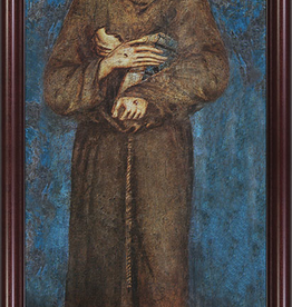 Nelson/Catholic to the Max St. Francis Full Length Framed Image in Cherry Frame 6.5 x 16""