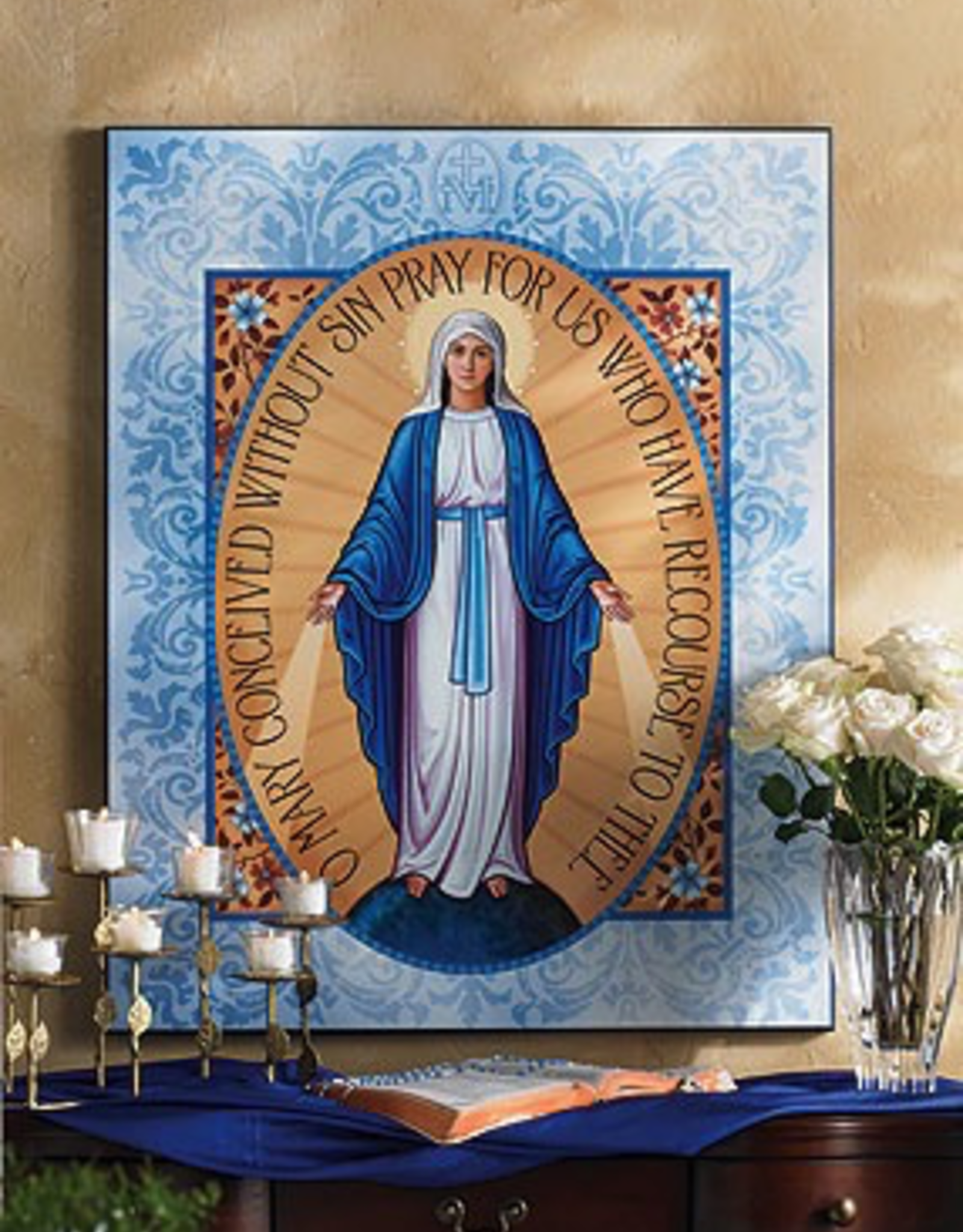 """Monastery Icons 3""""x4"""" Miraculous Medal Plaque"""
