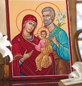 "Monastery Icons 4""x 6"" Holy Family Portrait Icon"