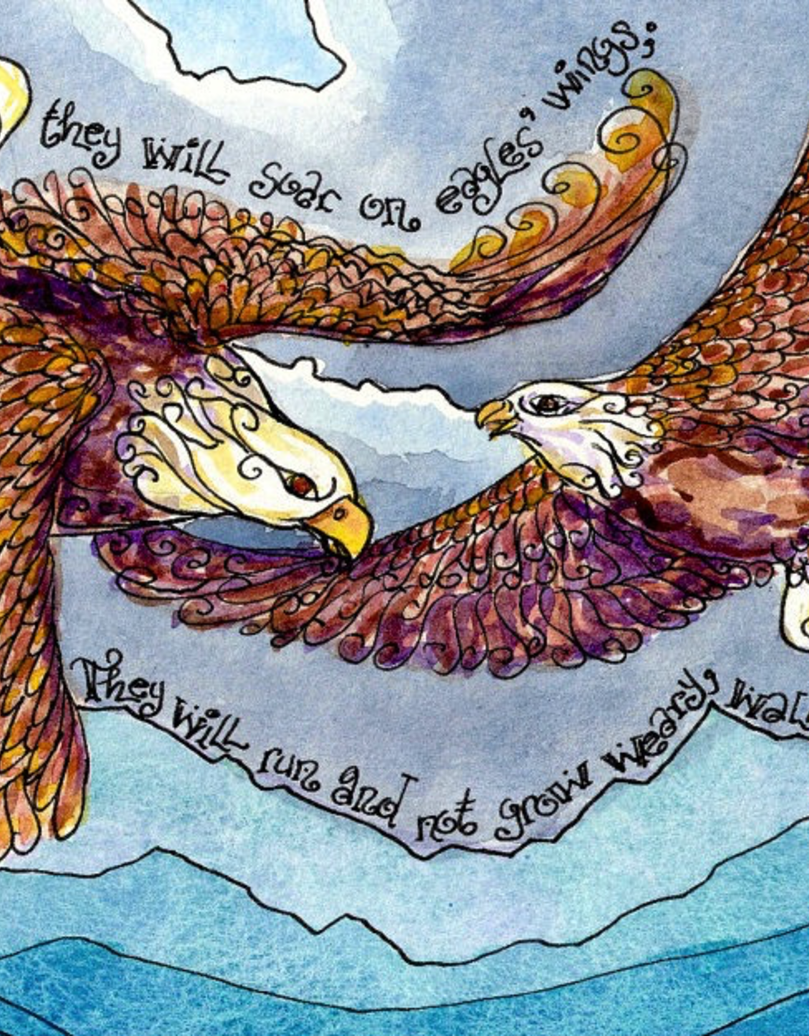 Dovetail Ink Dovetail Ink:  On Eagles Wings (8x10 print)