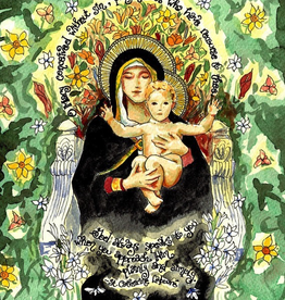 Si Crouch Si Crouch Creations: Custom Hand-Framed and Matted Dovetail Ink Our Lady of the Lilies (11x14 Print; 20 x 23 matted and framed)