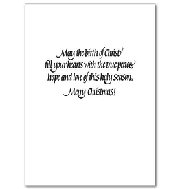 Printery House Holy Family Manger Scene Classic Christmas Cards (18 cards/19 envelopes per pkg)