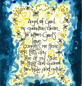 Dovetail Ink Dovetail Ink: Angel of God Baptism Gift Cards for Boys (8pk, 8 envelopes)