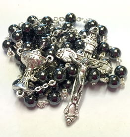 BC Inspirations BC Inspirations: Handcrafted Hematite First Communion Rosary