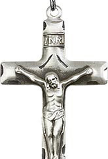 Bliss Manufacturing Traditional Crucifix in Sterling Silver (24‰Û Stainless Steel Chain)