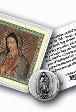 WJ Hirten Our Lady of Guadalupe Pocket Coin w/ Gold Stamped Holy Card