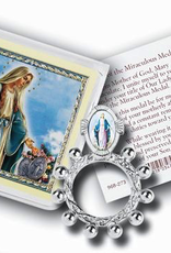 WJ Hirten Our Lady of Grace Finger Rosary and Prayer Card w/ Pouch