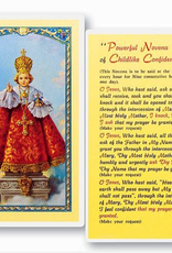WJ Hirten Infant of Prague/Childlike Confidence Prayer‰ÛÓ Novena Holy Cards  (25/pk)