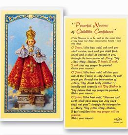 WJ Hirten Infant of Prague/Childlike Confidence PrayerÌ¢‰â‰ Novena Holy Cards (25/pk)