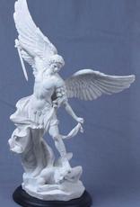 """Goldscheider 15"""" St. Michael Statue in Alabaster (high detail)"""