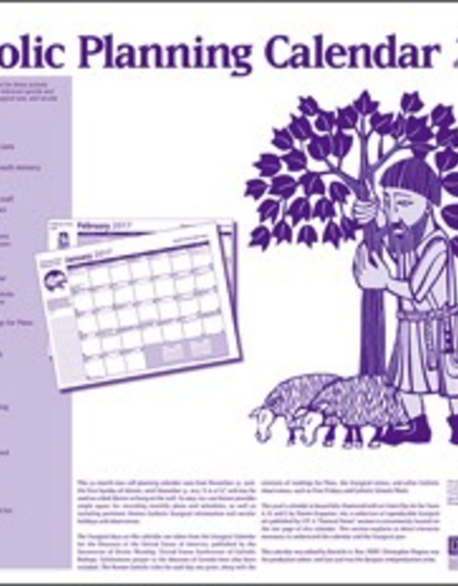 Liturgical Training Press The Catholic Planning Calendar 2017