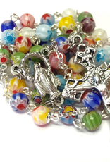 BC Inspirations BC Inspirations:  Handcrafted Millefiori Glass Rosary w/ Plain Crucifix