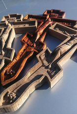 Aspire CNC Works Carved Mesquite Crucifix