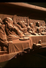 Aspire CNC Works Carved Last Supper in Mesquite