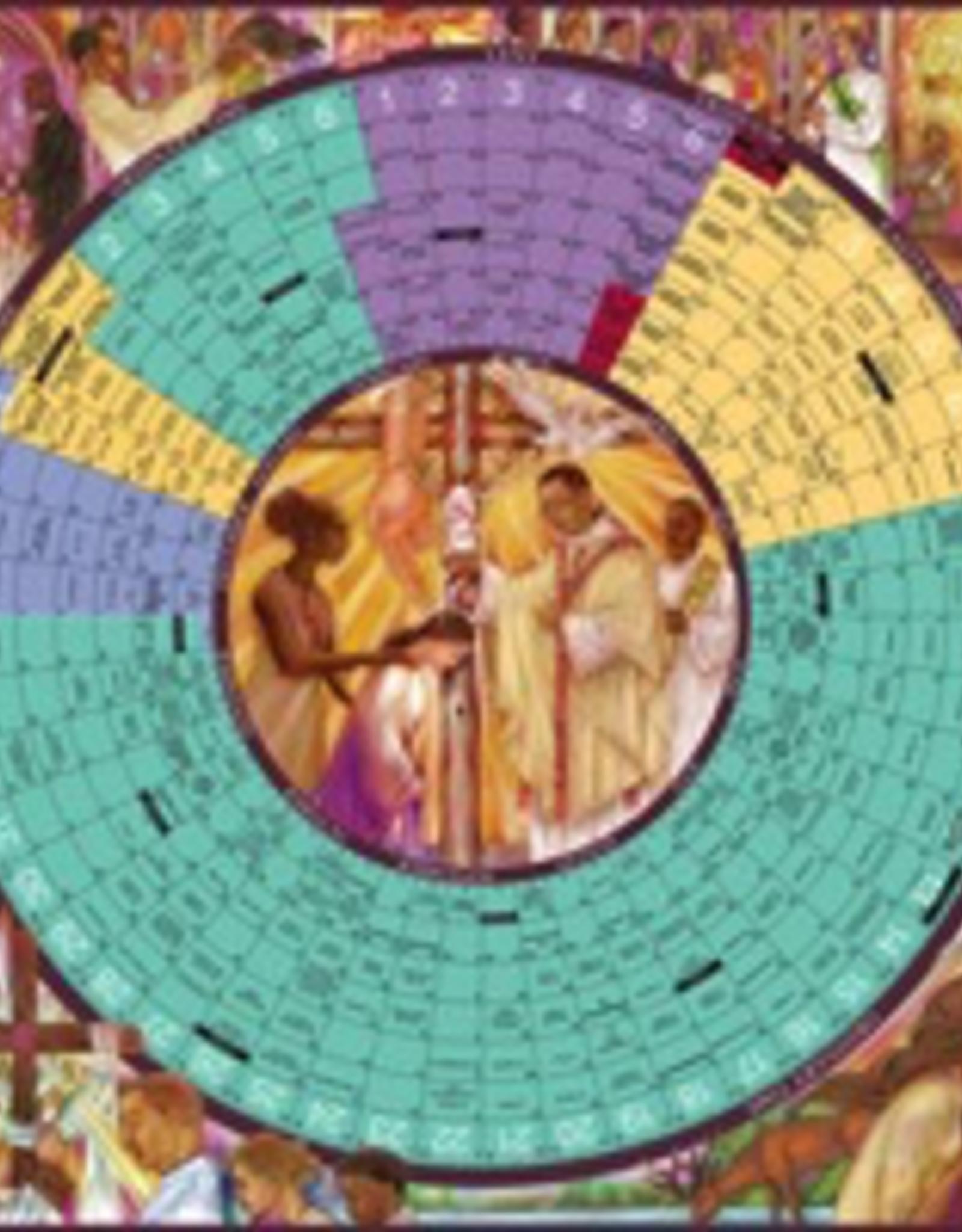 Liturgical Training Press Year of Grace Liturgical Calendar 2018 Laminated Poster (26x26)