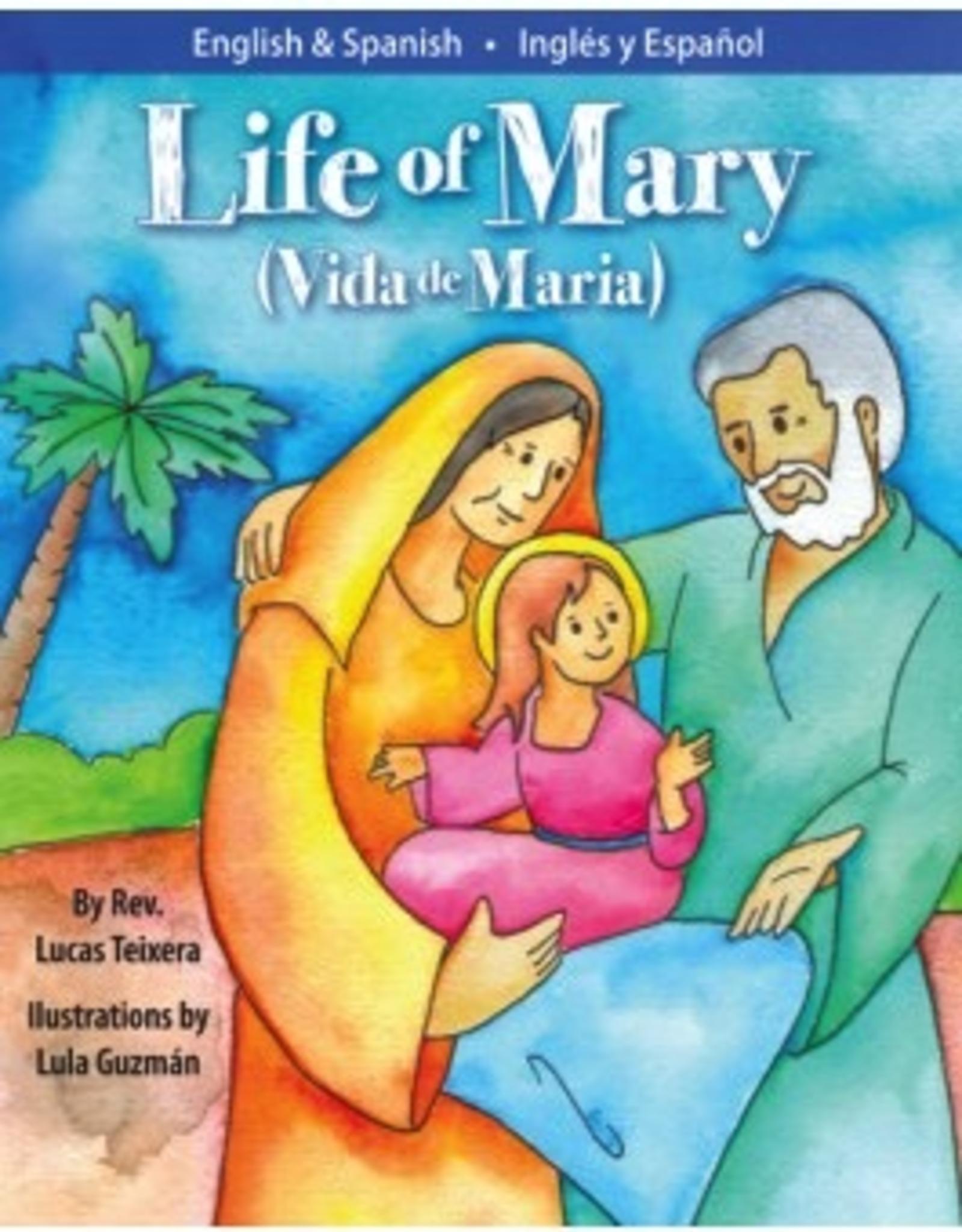 Liguori Vida de MarÌ_a/Life of Mary, by Lucas Teixeira, Illustrated by Lula Guzman (hardcover)