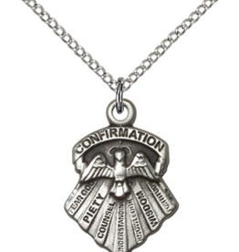 """Bliss Manufacturing Seven Gifts Medal in Sterling Silver (24"""" Stainless Steel Chain)"""