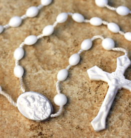 San Francis Imports Plastic White Rosary (10 per package)