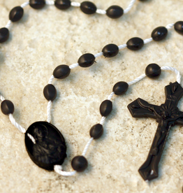 San Francis Imports Plastic Black Rosary (10 per package)