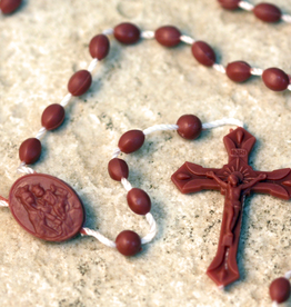 San Francis Imports Plastic Brown Rosary (10 per package)