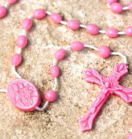 San Francis Imports Plastic Pink Rosary (10 per package)